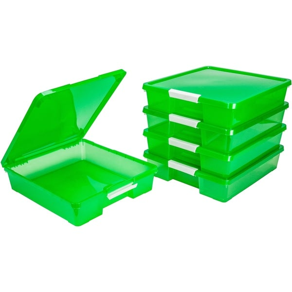 12x12 Classroom Student Project Box/Translucent Green (5 units/pack)