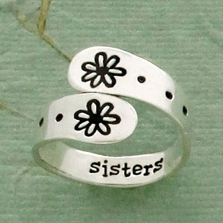 Sterling Silver Adjustable Sisters Ring