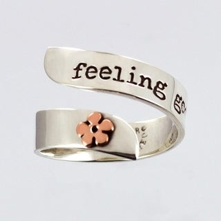 Sterling Silver Adjustable Feeling Good Ring