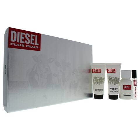 Diesel Plus Plus Men's 4-piece Gift Set