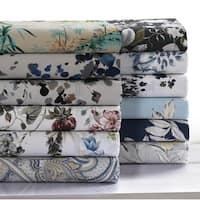 300 Thread Count Cotton Ultra-Soft Printed Deep Pocket Sheet Set