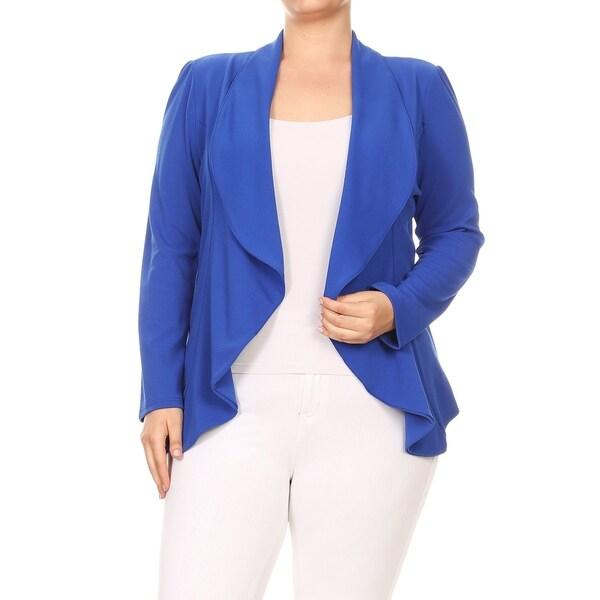 Women's Plus Size Solid Color Blazer Style Jacket