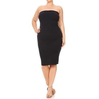 Women's Plus Size Solid Color Bodycon Dress