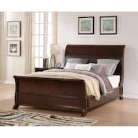 Bordeaux Espresso Finish King Sleigh Bed