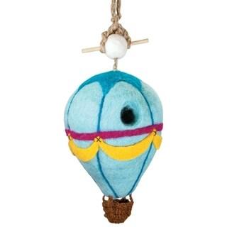 Handmade Felt Birdhouse - Hot Air Balloon (Nepal) - N/A