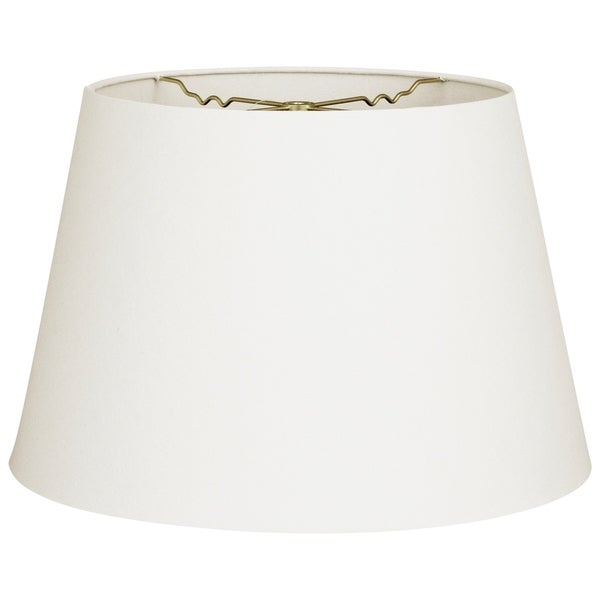 Royal Designs Tapered Shallow Drum Hardback Lamp Shade Linen White 13 X 18