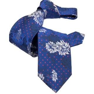DMITRY 7-Fold Royal Blue Floral Tie