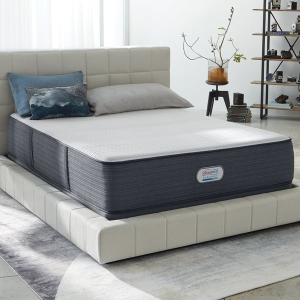Beautyrest Platinum Crestridge 13 Inch Plush King Size Hybrid Mattress Set N