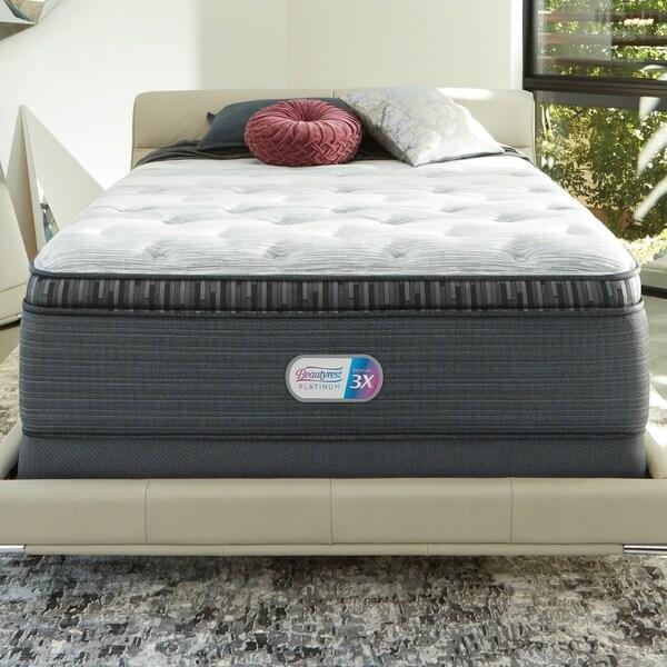 3dc873ca2ad Beautyrest Platinum Haven Pines 16-inch Plush King-size Pillow Top Mattress  Set