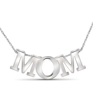 """JewelonFire Sterling Silver """"MOM"""" Initial Necklace"""