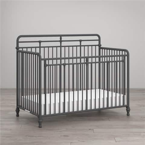 Little Seeds Monarch Hill Hawken 3 in 1 Convertible Metal Crib - N/A