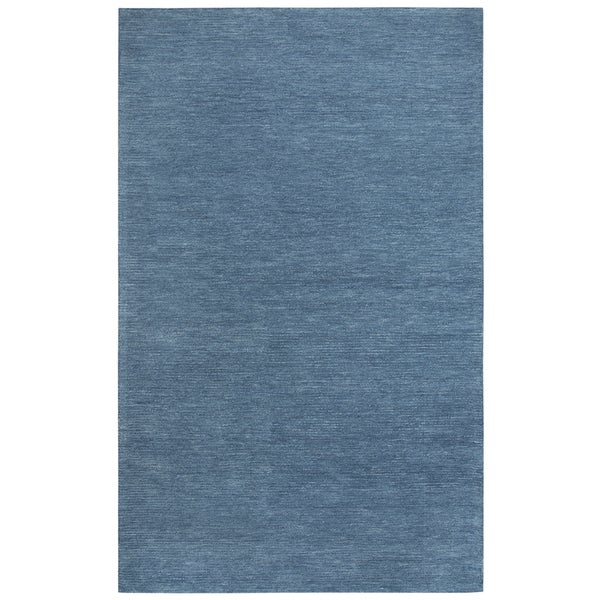 Rizzy Home Fifth Avenue Blue Solid Area Rug - 5' x 8'