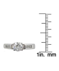 Journee Collection Sterling Silver Round-cut CZ Bridal and Engagement Ring - Thumbnail 2