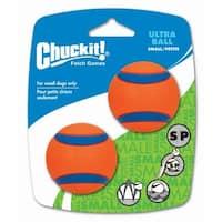 """Petmate 17020 2"""" Small Orange Chuckit!® Ball Ultra 2 Pack"""