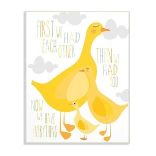 The Kids Room by Stupell First We Had Each Other Yellow Ducks Wall Plaque Art, 10 x 0.5 x 15, Made in USA
