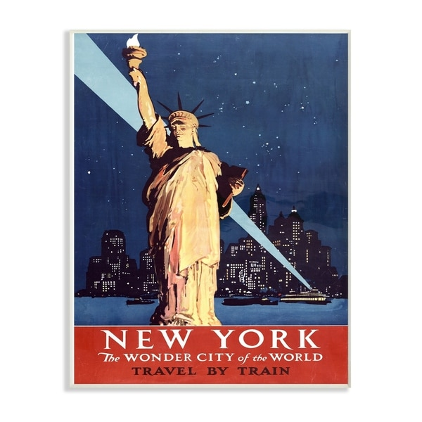 The Stupell Home Decor Collection Vintage NYC Liberty Statue Poster ...