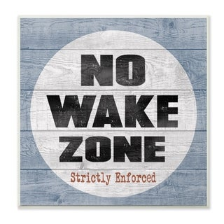 The Stupell Home Decor Collection No Wake Zone Beach Plank Wall Plaque Art, 12 x 0.5 x 12, Made in USA