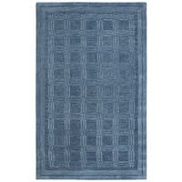 Rizzy Home Fifth Avenue Blue Squares Area Rug - 5' x 8'