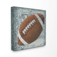 The Kids Room by Stupell Grunge Sports Equipment Football Stretched Canvas Wall Art, 17 x 1.5 x 17,  Made in USA - Multi-color