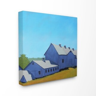The Stupell Home Decor Collection Colorful Luminous Painted Farm House Stretched Canvas Wall Art, 17 x 1.5 x 17, Made in USA