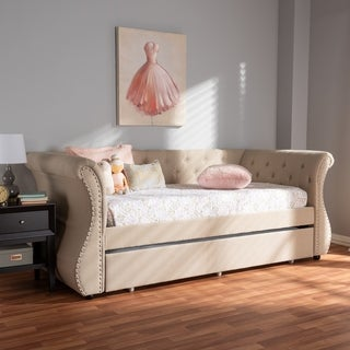 Contemporary Fabric Daybed with Trundle by Baxton Studio (2 options available)