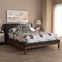 Strick & Bolton Vija Contemporary Fabric Platform Bed