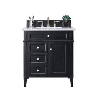 "Brittany 30"" Single Vanity, Black Onyx"