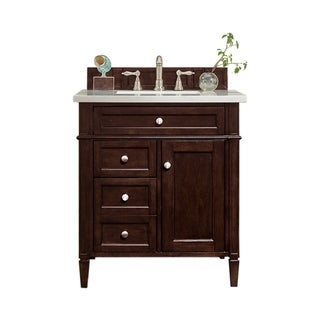 "Brittany 30"" Single Vanity, Burnished Mahogany"