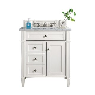 "Brittany 30"" Single Vanity, Cottage White"