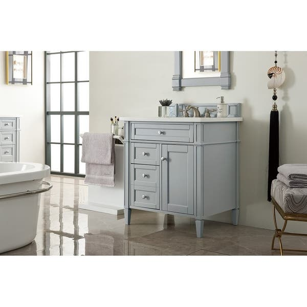 Brittany 30 Single Vanity Urban Gray Overstock 21194770