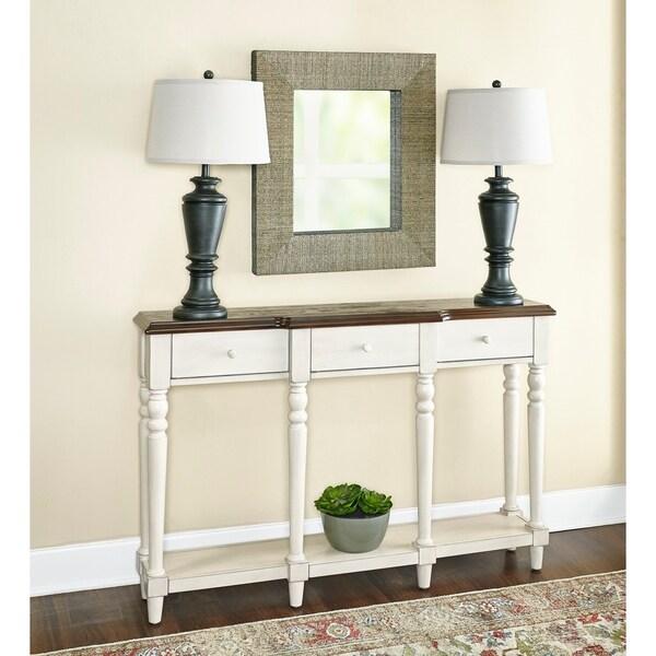 Powell Kepley Cream Poplar Wood Console Table