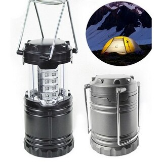 LED Collapsible Portable Military Tac Lantern, Outdoor Battery Ultra Bright Light Collapsible Hand Lamp - Camping Survival Lamp