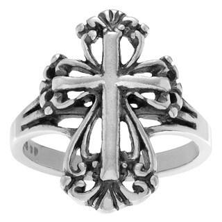 Sterling Silver Cross Statement Ring