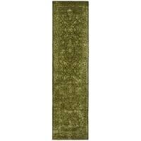 Safavieh Handmade Silk Road Sage New Zealand Wool Rug - 2'6 x 10'