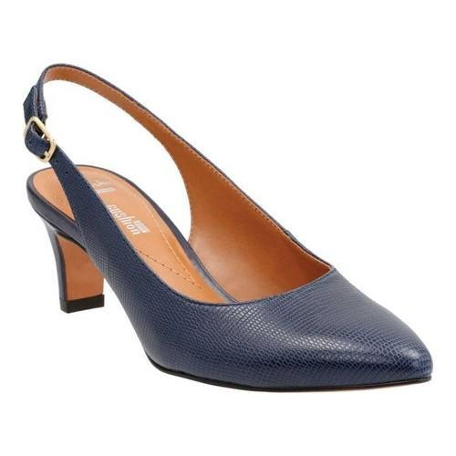 efda4107288 Shop Women s Clarks Crewso Riley Slingback Navy Leather Lizard Print - Free  Shipping Today - Overstock - 18461753