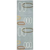 Safavieh Handmade Soho Modern Abstract Blue Wool Rug - 2'6 x 8'