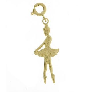 14k Yellow Gold Ballerina Charm
