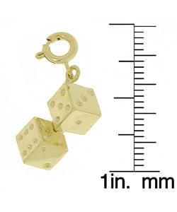 14k Gold Dice Charm