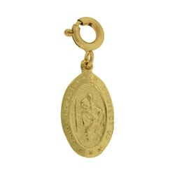 14k Gold Saint Christopher Charm