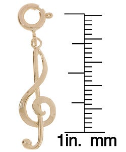 14k Gold Treble Clef