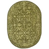 "Safavieh Handmade Silk Road Sage New Zealand Wool Rug - 4'6"" x 6'6"""