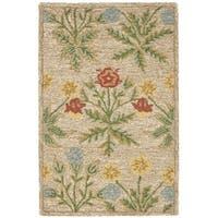 "Safavieh Handmade Blossom Beige Wool Rug - 2'6"" x 4'"