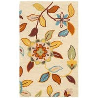 "Safavieh Handmade Blossom Beige Indoor Wool Rug - 2'6"" x 4'"
