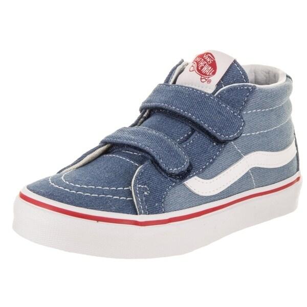 1eeb6a762f Shop Vans Kids Sk8-Mid Reissue V (Denim 2-Tone) Skate Shoe - Free ...