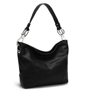 MKF Collection Emily Soft Vegan Leather Hobo Handbag by Mia K Farrow