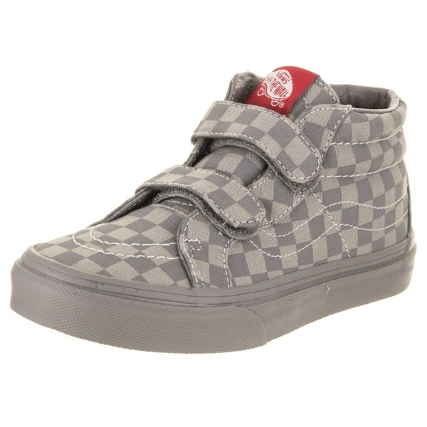Shop Vans Kids Sk8-Mid Reissue V (Mono Checkerboard) Skate Shoe ... 3be18a36a