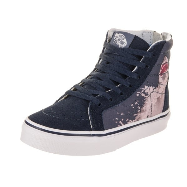 fc02edf694 Shop Vans Kids Sk8-Hi Zip (Shark Attack) Skate Shoe - Free Shipping ...