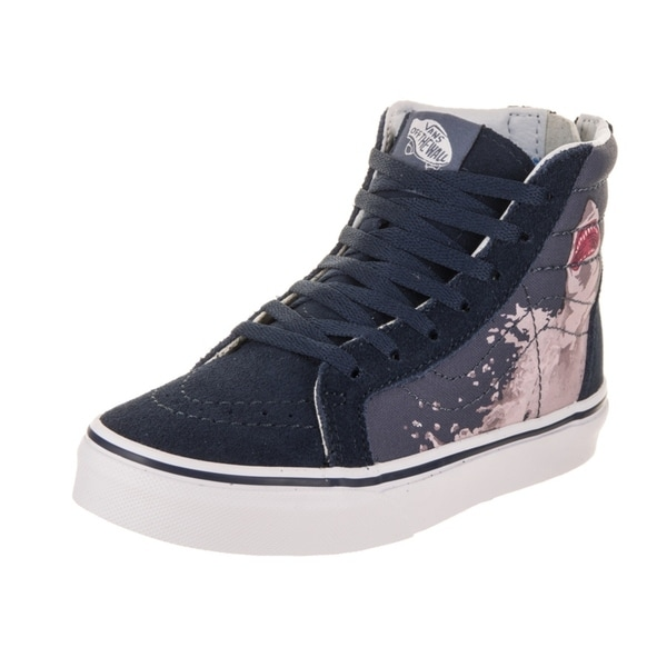d0e4f4601e Shop Vans Kids Sk8-Hi Zip (Shark Attack) Skate Shoe - Free Shipping ...