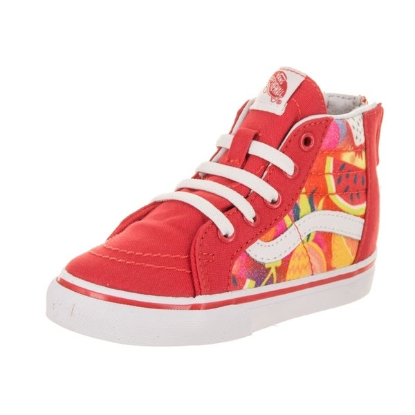 df69738957 Shop Vans Toddlers Sk8-Hi Zip (Glitter Fruits) Skate Shoe - Free ...
