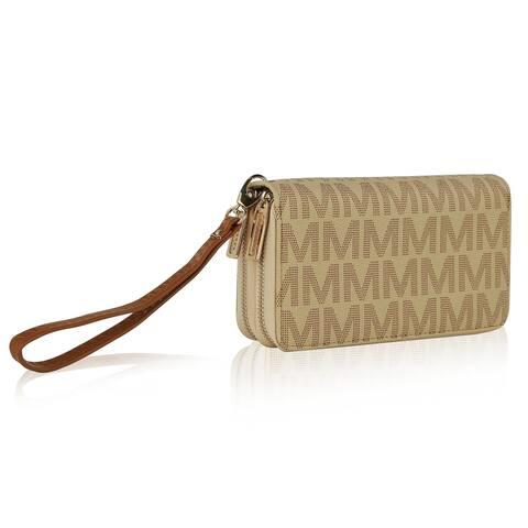 MKF Collection Kirbi M Embossed Designer Wallet by Mia K.